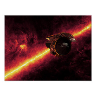 Spitzer seen against the infrared sky 2 poster
