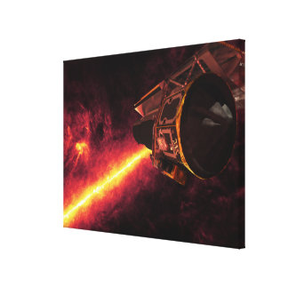Spitzer seen against the infrared sky canvas print