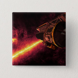 Spitzer seen against the infrared sky pinback button
