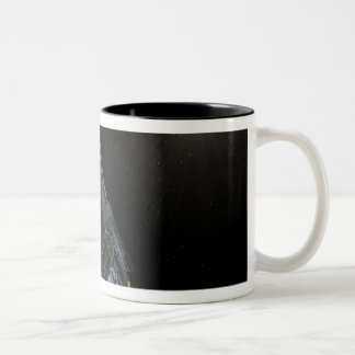 Spitzer seen in visible light Two-Tone coffee mug