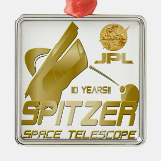 Spitzer Space Telescope: 10th Anniversary!! Metal Ornament