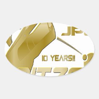 Spitzer Space Telescope: 10th Anniversary!! Oval Sticker