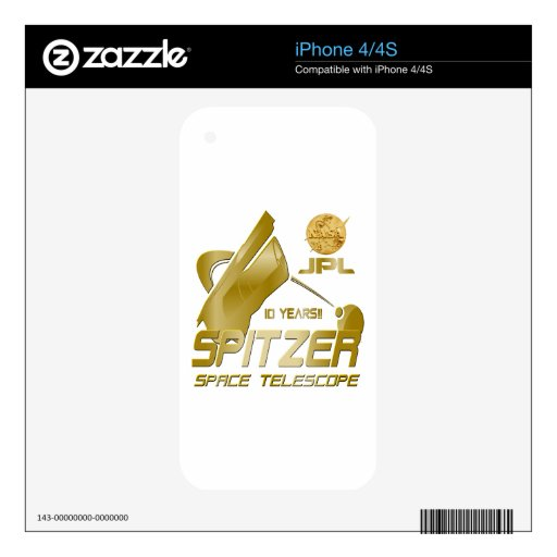 Spitzer Space Telescope: 10th Anniversary!! Decal For iPhone 4S