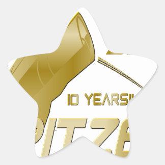 Spitzer Space Telescope: 10th Anniversary!! Star Sticker