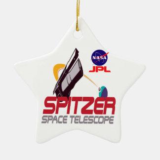 Spitzer Space Telescope Ceramic Ornament