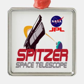Spitzer Space Telescope Metal Ornament