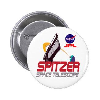 Spitzer Space Telescope Pinback Button