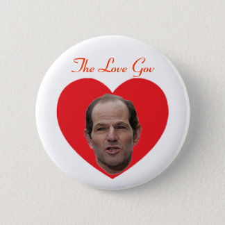 Spitzer:  The Love Gov Pinback Button