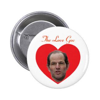 Spitzer:  The Love Gov Pinback Button