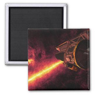 Spitzer visto contra el cielo infrarrojo imán para frigorifico