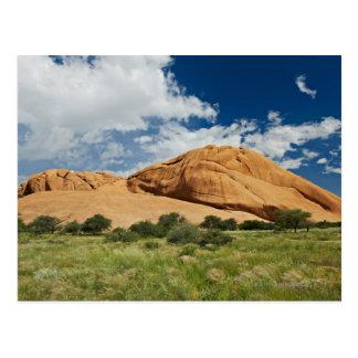Spitzkoppe or Spitzkuppe, arid mountain Post Card