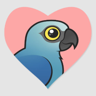 Spix's Macaw Heart Sticker