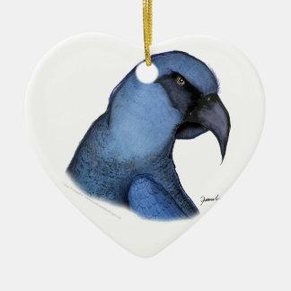 spixs macaw, tony fernandes ceramic ornament