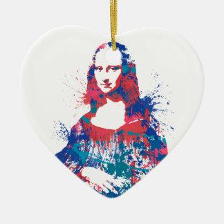 Splach de Mona Lisa Adorno De Cerámica En Forma De Corazón