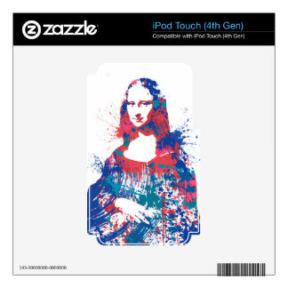 Splach de Mona Lisa iPod Touch 4G Skin