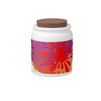 SPLASH ABSTRACT BUTTERFLY CANDY JARS