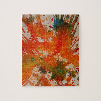 Splash Abstract Painting Puzzle/Jigsaw with Tin