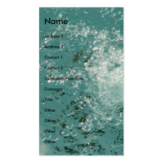 Splash Abstract Water Business Card