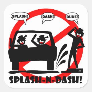 SPLASH AND DASH! SQUARE STICKER
