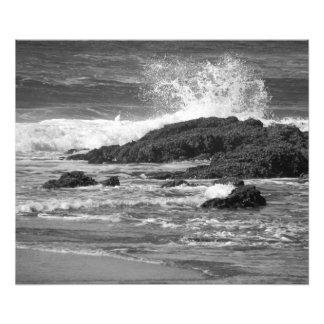 splash black and white photo print