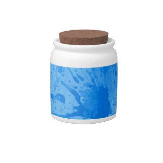 splash blue candy jar