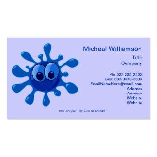 Splash Bug Funny Cartoon Water Splat Custom Color Business Card