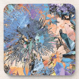 """""""Splash Collection"""" - Pohutukawa Blue Beverage Coaster"""