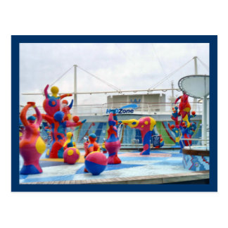 Splash Color Custom Postcard