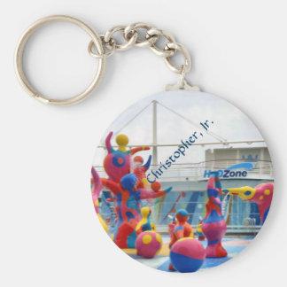 Splash Color Personalized Keychain