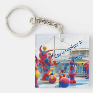 Splash Color Personalized Keychain