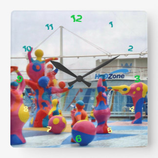 Splash Color Square Wall Clock