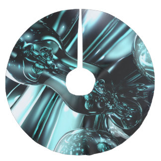 Splash Down Abstract Brushed Polyester Tree Skirt