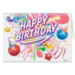 Splash explosion birthday card