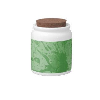 splash green candy dishes