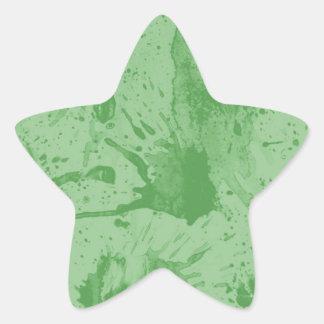 splash green star sticker