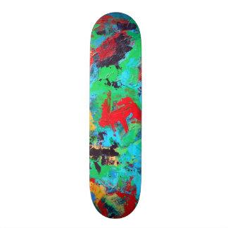 Splash-Hand Painted Abstract Brushstrokes Skateboard Deck
