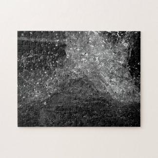 Splash In Black And White Puzzle