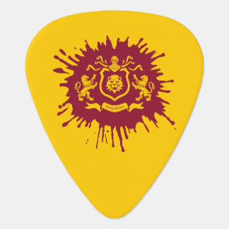 Splash Ink Heraldic Lions Guitar Pick