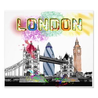 Splash London poster Photo Print