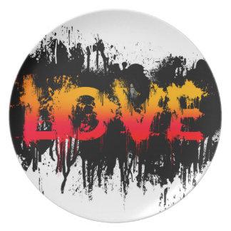 Splash Love Text Plate