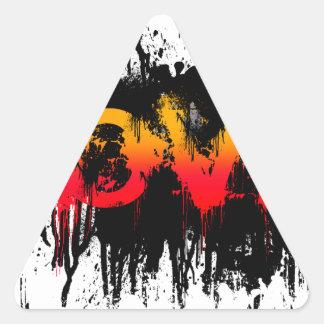 Splash Love Text Triangle Stickers