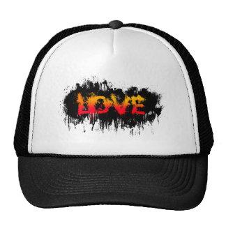 Splash Love Text Trucker Hat