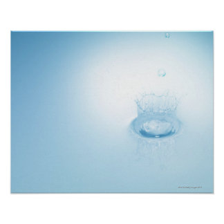 Splash made by water drop poster