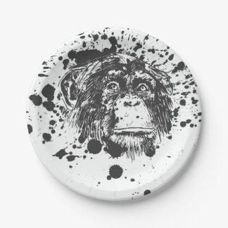 Splash Monkey Paper Plate