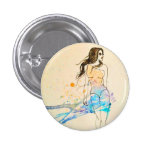 Splash of color 1 inch round button