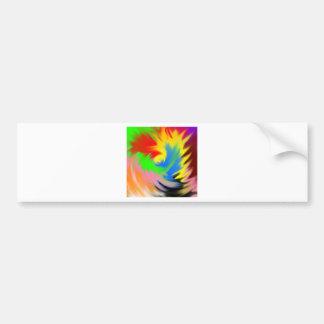 splash of color bumper sticker