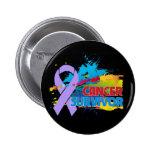 Splash of Color - Cancer Survivor Pin