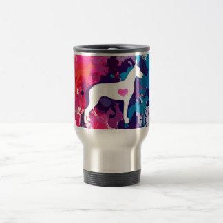 Splash of Color-ful Danes Travel Mug