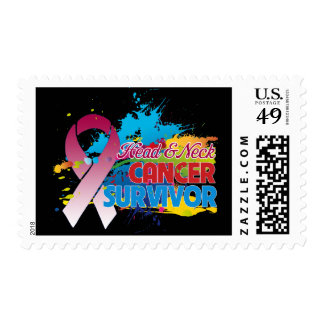 Splash of Color - Head and Neck Cancer Survivor Postage Stamps