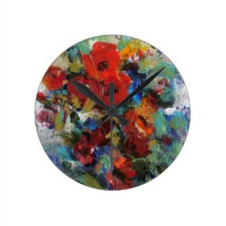 Splash of Color II Round Clock